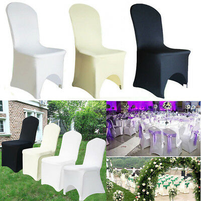 £219.98 • Buy 50-100 Chair Covers Spandex Stretch Wedding Banquet Anniversary Party Event Déco