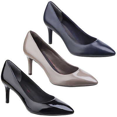 Rockport Total Motion Pointy Toe Pump Womens Leather Casual Ladies Court Shoes • 69.95£