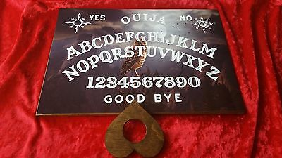 Ouija Board Spirit Owl & Planchette Ghost Hunt & Instructions Laminated Sheet • 4.99£