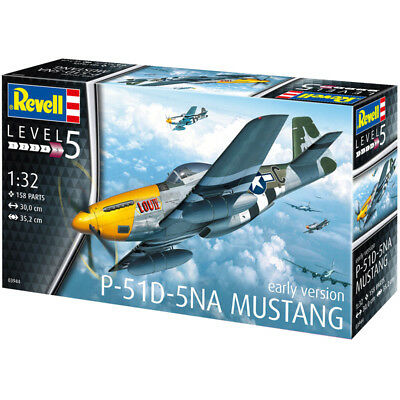 Revell P-51D-5NA Mustang (Early Version) (Scale 1:32) Model Kit 03944 NEW • 34.99£