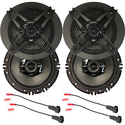 $121.99 • Buy 4 X Sony 6.5  3-Way Car Audio Speakers + Wire Harness For Select GM Vehicles Kit