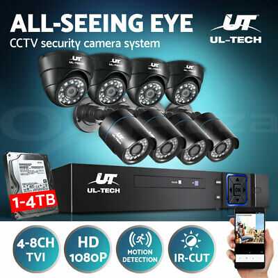 AU103.99 • Buy UL-tech CCTV Security Camera System 1080P 4CH 8CH DVR Home Outdoor Long Range