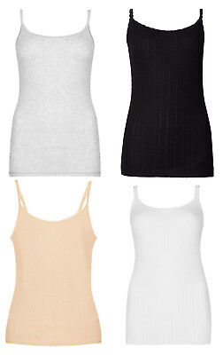 £7.45 • Buy M&S Marks And Spencer Pointelle Thermal Ladies Camisoles Thin Strap Vest UK 6-22