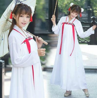 $ CDN33.06 • Buy Hot Embroider Retro Chinese Style Hanfu Long Dress Girl Lolita Summer Japan Coat