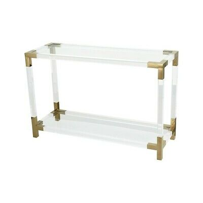 $1087.83 • Buy Dimond Home Equity Console Table, Clear Acrylic/Gold Plated Stainless - 1114-306