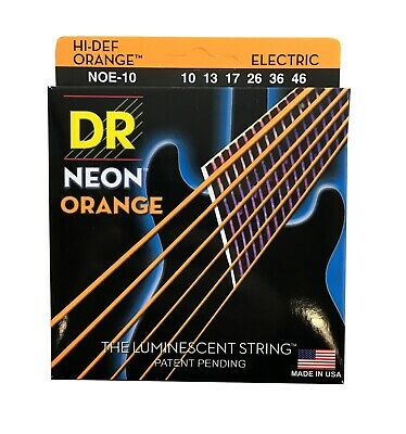 $ CDN16.91 • Buy DR Strings Guitar Strings Electric Neon Orange 10-46 Medium