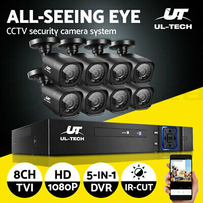 AU230.90 • Buy UL-tech CCTV Camera Home Security System 8CH DVR 1080P Cameras Outdoor IP Kit
