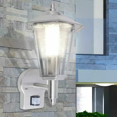 VidaXL Outdoor Uplight Wall Lantern With Sensor Stainless Steel Security Light • 24.99£