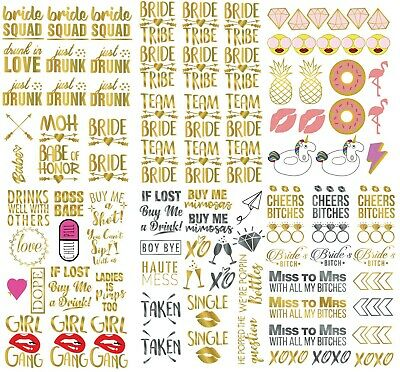 100+ Bachelorette Party Tattoos Bridesmaid Gift Bride Tribe Party Favors Hen • 3.99£