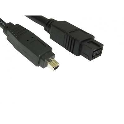£3.69 • Buy 2m Firewire 800 To 400 9 Pin To 4 Pin Cable IEEE1394B PC Mac DV OUT CAMCORDER