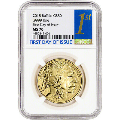 $1988.09 • Buy 2018 American Gold Buffalo (1 Oz) $50 - NGC MS70 First Day Of Issue 1st Label