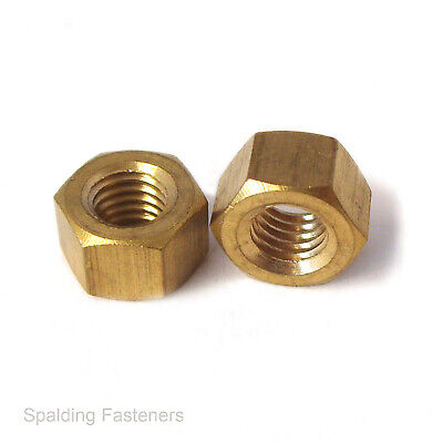 Solid Brass UNF (AF) Manifold Exhaust Nuts 5/16  3/8  & 7/16  • 2.89£