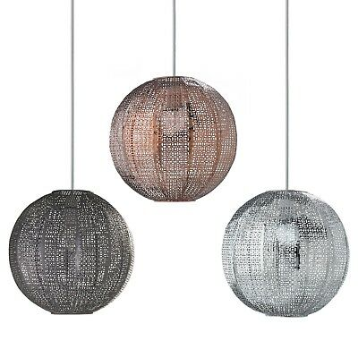 £23.95 • Buy Moroccan Style Metal Round Ball Ceiling Light Shade Chandelier Fitting Lampshade