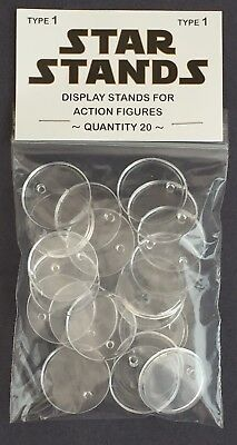 $ CDN12.31 • Buy Pack Of 20 Star Wars Vintage Action Figure Display Stands Palitoy Kenner 1977