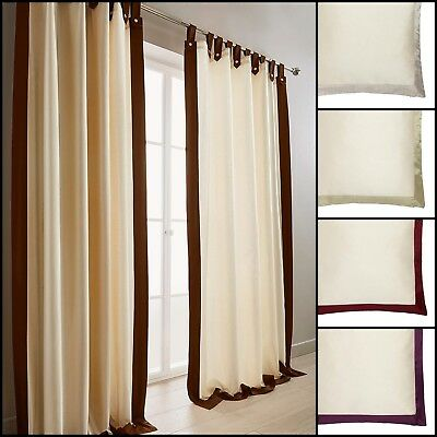 Harlington Lined Faux Silk Tab Top Curtains Range (Pair) - 5 Colours Available • 37.99£
