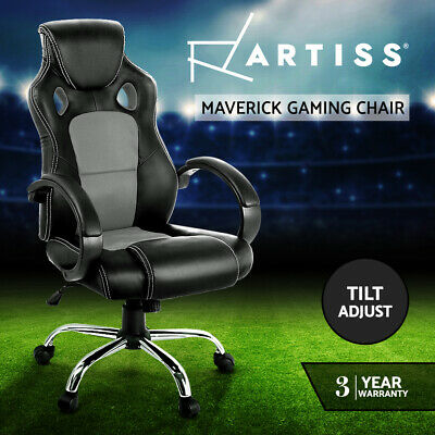 AU119.95 • Buy Artiss Gaming Chairs Office Chair Study Computer Seating Racing Racer Grey