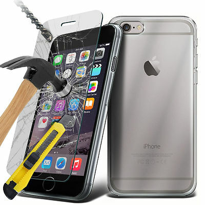 AU6.97 • Buy Ultra Clear Gel Case And Tempered Glass Screen Protector For Apple Samsung Sony