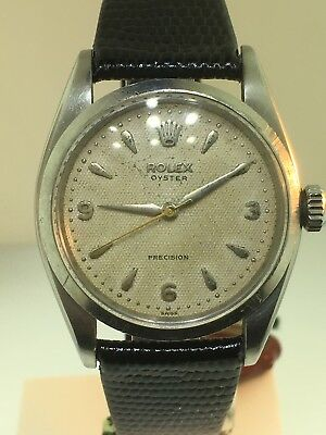 $ CDN5679.53 • Buy Rolex Oyster Ref 6422 Rare Waffle Explorer Dial 3-6-9 Vintage Watch