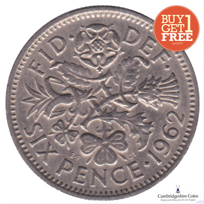 1947 - 1967 British Lucky Sixpence Wedding Gift Favour Buy One Get One Free • 0.99£