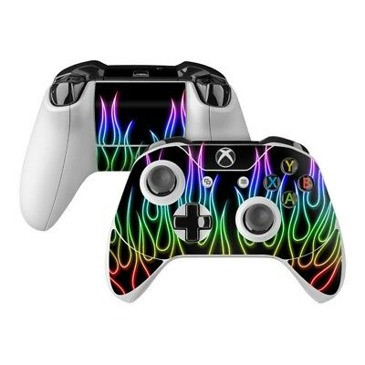 $7.49 • Buy Xbox One Controller Skin Kit - Rainbow Neon Flames - DecalGirl Decal