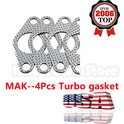 AU20.58 • Buy 4Pcs Graphite Aluminum Wastegate Dump Pipe Tube Flange Gasket 38mm Turbocharger