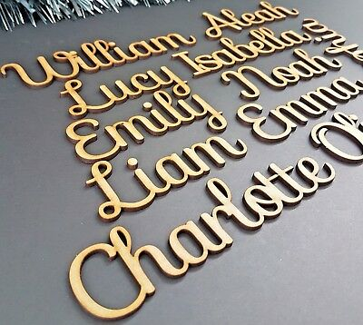 Script Bespoke Personalised Names, Letters Or Words. Wooden Christmas Box SF • 7.99£