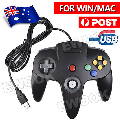 AU16.95 • Buy New For NINTENDO 64 N64 GAMES CLASSIC GAMEPAD CONTROLLERS FOR USB TO PC / MAC AU