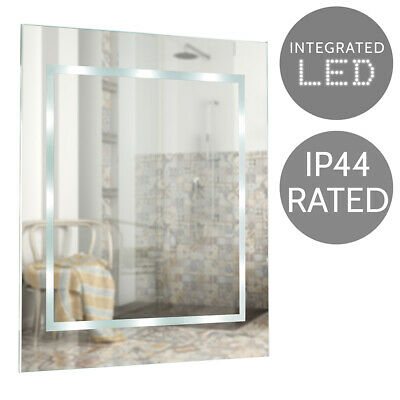 Modern Battery Operated Illuminated LED Bathroom Wall Mirror Cool White Light • 34.99£