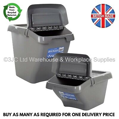 £8.95 • Buy WHAM 30L Or 50L Plastic Storage Kitchen Recycling Recycle Bin Box Hinged Lid NEW