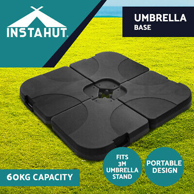 AU89.90 • Buy Instahut Umbrella Outdoor Stand Base Pod Sun Beach Sand/Water Patio Cantilever