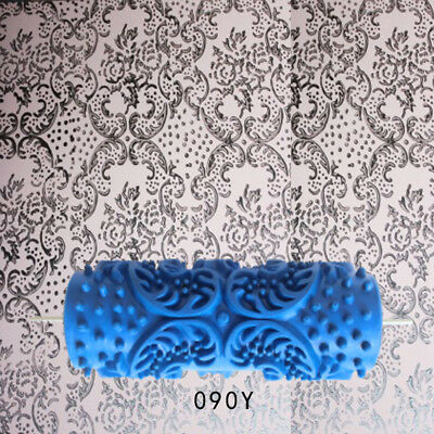 Rotary Flower Leaf Pattern Painting Paint Roller Brush DIY Wall Decor 9# • 7.83£