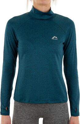 More Mile Train To Run Womens Running Top Blue Stylish Sports Long Sleeve Jersey • 12.99£