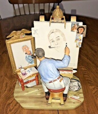 $ CDN583.88 • Buy  Vintage 1978 Norman Rockwell Triple Self Portrait Ceramic Figurine 134 Of 5000