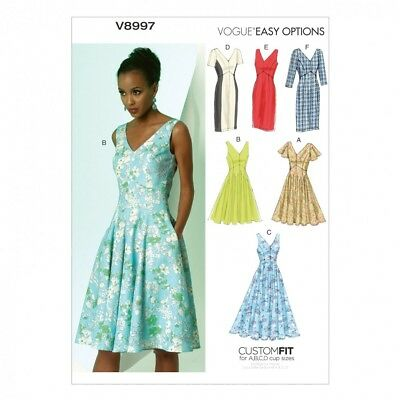 £16.24 • Buy Free UK P&P - Vogue Ladies Easy Sewing Pattern 8997 Dresses With Cup Size...