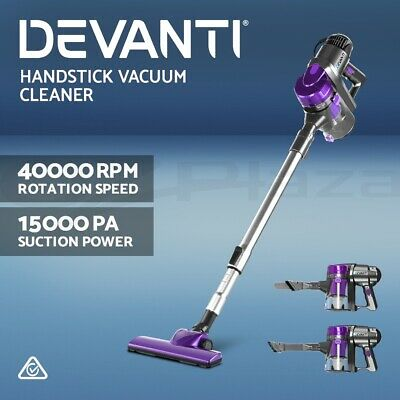 AU64.90 • Buy Devanti Handheld Vacuum Cleaner Stick Handstick Bagless Corded Car Vac Purple