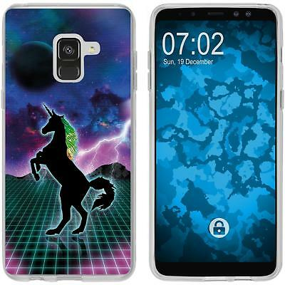 Case For Samsung Galaxy A8 Plus (2018) Silicone Case Retro Wave M2 Cover • 8.90£