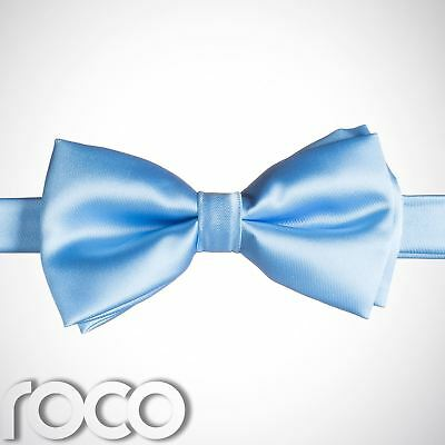 Boys Sky Blue Banded Dickie Bow Tie Wedding Prom Page Boy Dickie Bows • 4.99£