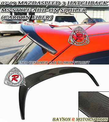 $229.99 • Buy MS-Style Add-on Roof Spoiler Wing (Carbon) Fits 07-09 MazdaSpeed 3 5dr