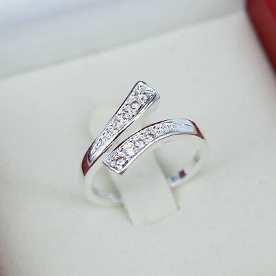 AU1.19 • Buy Adjustable 925 Silver Plated Rings Finger Band Ring Charming Women's Jewelry