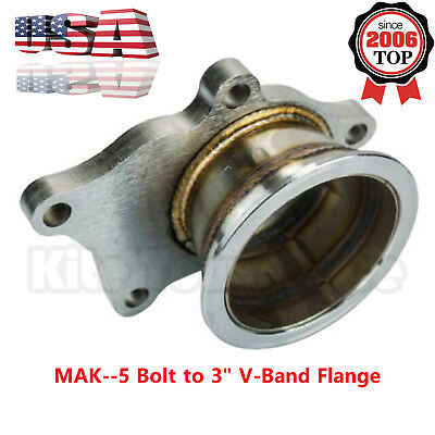 $ CDN61.96 • Buy For T3/T4 Turbo 5 Bolt To 3  V-Band Flange Turbo Adaptor Stainless Steel Adapter