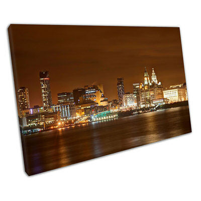 £23.03 • Buy City Of Liverpool Skyline Liver Building Albert Docks Ready To Hang Canvas X1412