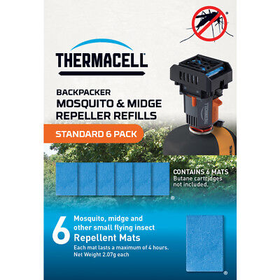 £12.99 • Buy Thermacell Backpacker Mosquito And Midge Repeller REFILLS Standard 6 Pack