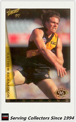 AU40 • Buy 1997 Select AFL Ultimate Card Series Box Card BC4 Matthew Richardson(Rich) Rare