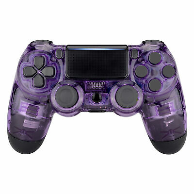 AU22.43 • Buy Clear Purple Top Housing Shell Replacement Mod For PS4 Slim Pro Game Controller
