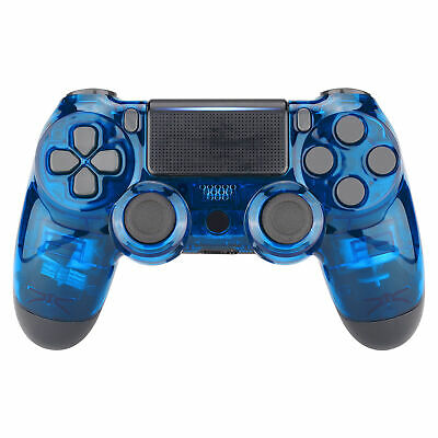 AU20.97 • Buy Crystal Clear Blue Top Housing Shell Replacement Mod For PS4 Slim Pro Controller