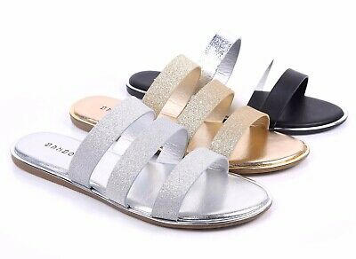 £12.41 • Buy BAMBOO 3 Color Slip On Slippers Strappy Sexy Womens Sandals Flip Flops Flats