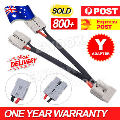 AU18.95 • Buy 50 Amp Genuine Anderson Plug Connector Double Y Adaptor 6mm Automotive Cable