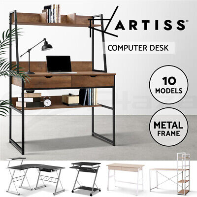 AU85.95 • Buy Artiss Computer Desk Office Study Table Corner Student Desk Metal Desks Mobile