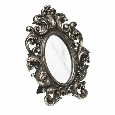 £20.49 • Buy Alchemy Gothic Victorian Ornate Antique Silver Wall Free Standing Mirror Frame