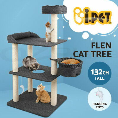 AU71.90 • Buy I.Pet Cat Tree Scratching Post Scratcher Tower Condo House Hanging Toys 132cm